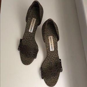 Manolo Blahnik Brown Sandal Size 39.